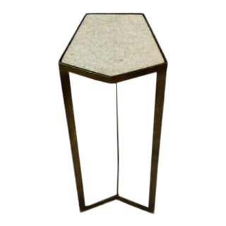 Modern or Minimalist Style Marble Top Side or Drinks Table For Sale