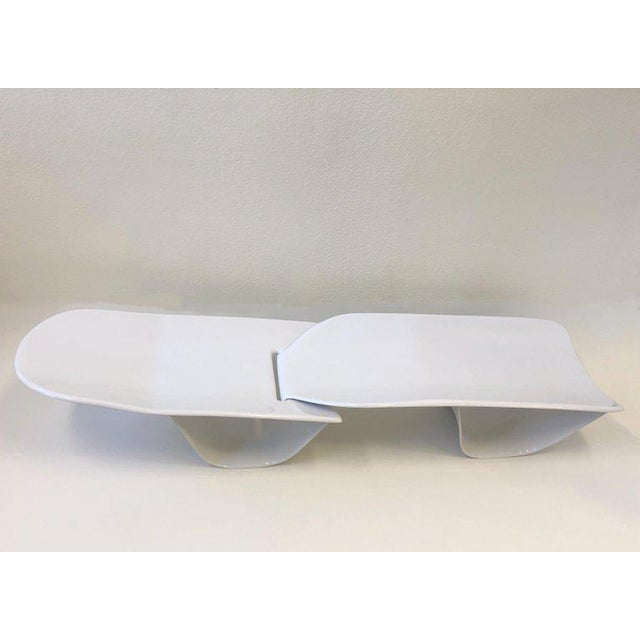Set of Three Fiberglass Lounge Chases by Po Shun Leong For Sale - Image 10 of 12