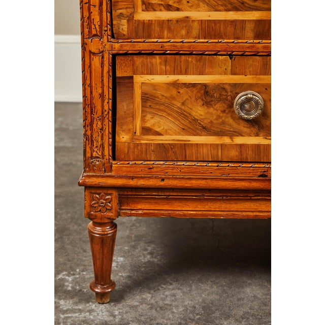 Wood 19th C. Italian Inlaid Chest of Drawers For Sale - Image 7 of 9