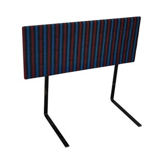 Knoll Mid-Century Striped Headboard For Sale