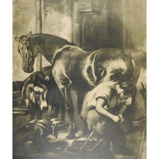 Blacksmith & Horse Lithograph