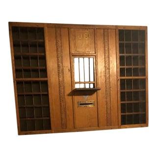 Antique US Postal Mail Window Cabinet For Sale