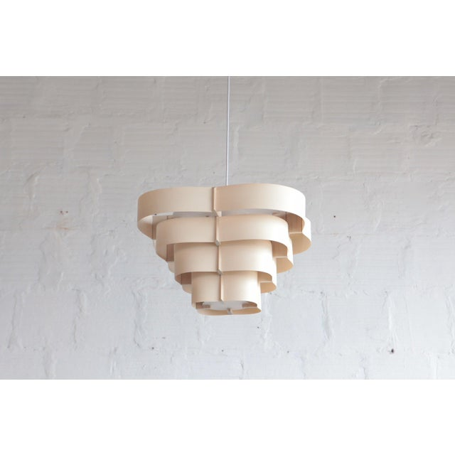 2010s Harry Weitzer Canopy Wood Lighting For Sale - Image 5 of 5