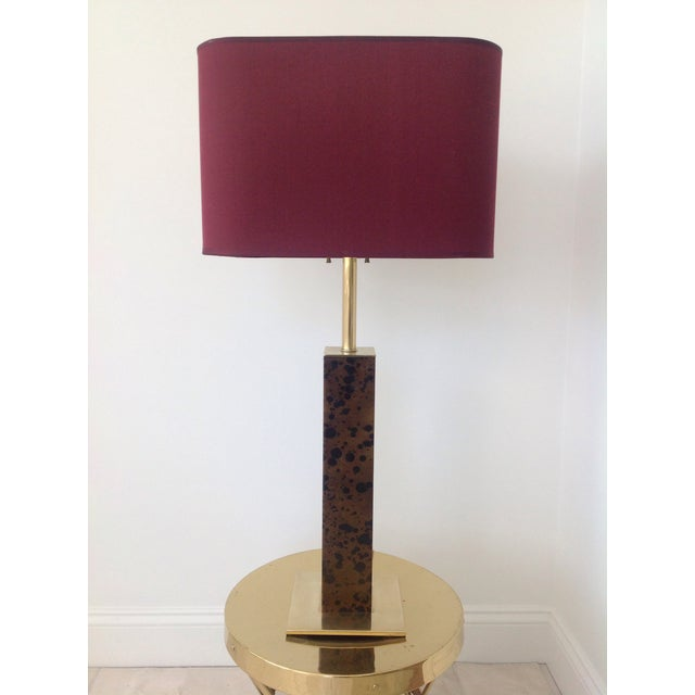 Vintage Von Nessen Brass & Leather Table Lamp - Image 2 of 4