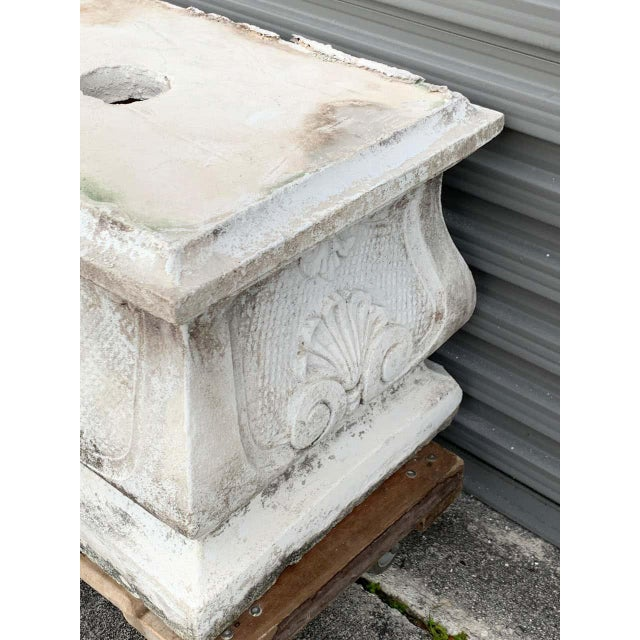 Large Versailles Style Cast Stone Statue of 'Harvest' on a Pedestal Base For Sale - Image 11 of 12