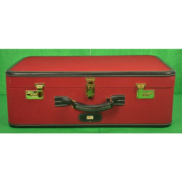 1960s Traditional T Anthony Suitcase w/ TWA Label For Sale - Image 11 of 11