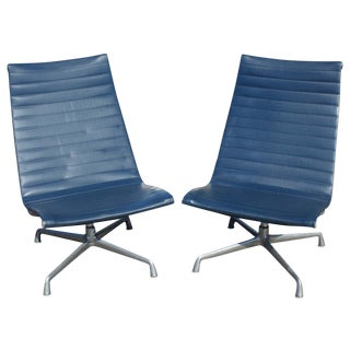 Herman Miller Eames Aluminum Group Lounge Chairs - A Pair