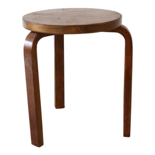 Alvar Aalto Dark Brown Stool For Sale