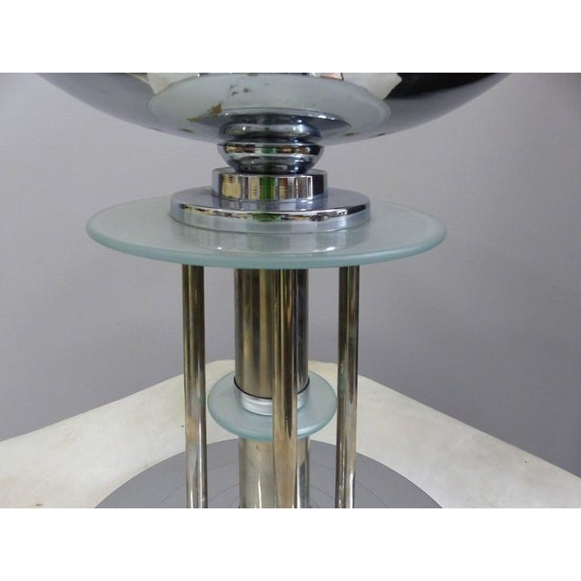 Art Deco Mid-Century American Art Deco Style Chrome Lamps, Pair For Sale - Image 3 of 9