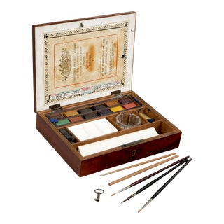 Victorian Artist's Paint Box For Sale