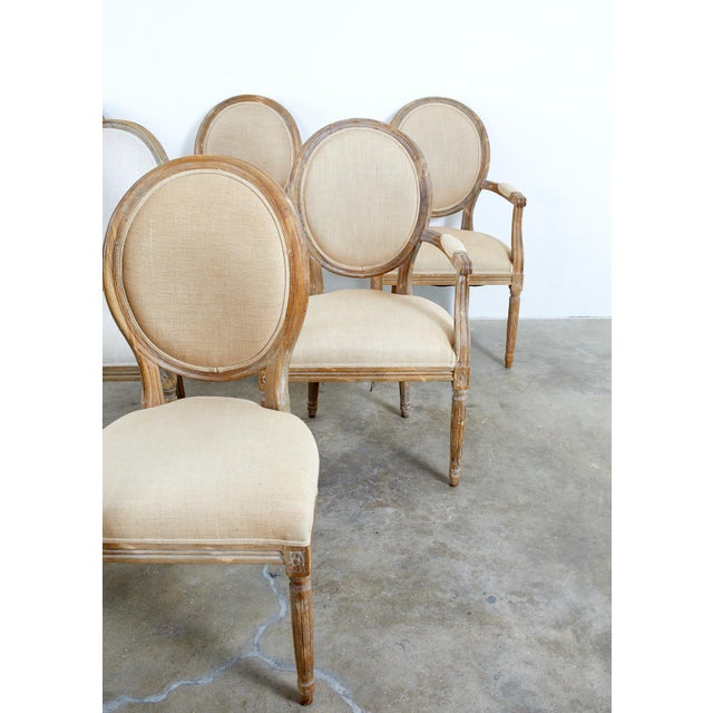 French French Louis XVI Style Oak Dining Chairs - Set of 10 For Sale - Image 3 of 13