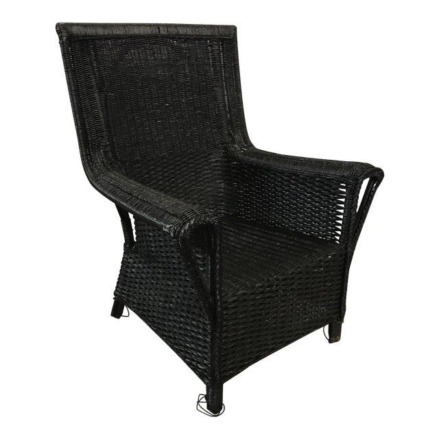 Black Wicker Armchair - Image 1 of 6