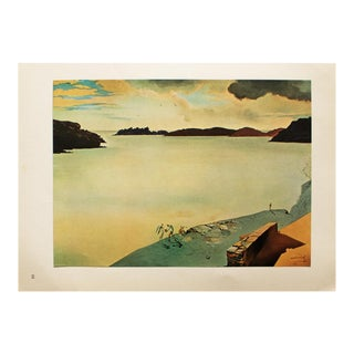 "1957 Salvador Dali ""Landscape of Port-Lligat"", Large Original Period Photogravure For Sale"