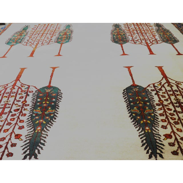 """Islamic Indian Hand-Knotted Rug With Tribal Design - 6'6""""x 7'9"""" For Sale - Image 3 of 8"""