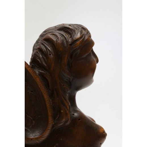 Figurial Walnut Carved Bookends - a Pair For Sale - Image 10 of 11