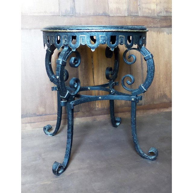 French Napoleon III Circular Iron Table For Sale - Image 3 of 7
