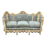 Image of Early 17th Century Antique Fortuny Fabric Sofa For Sale