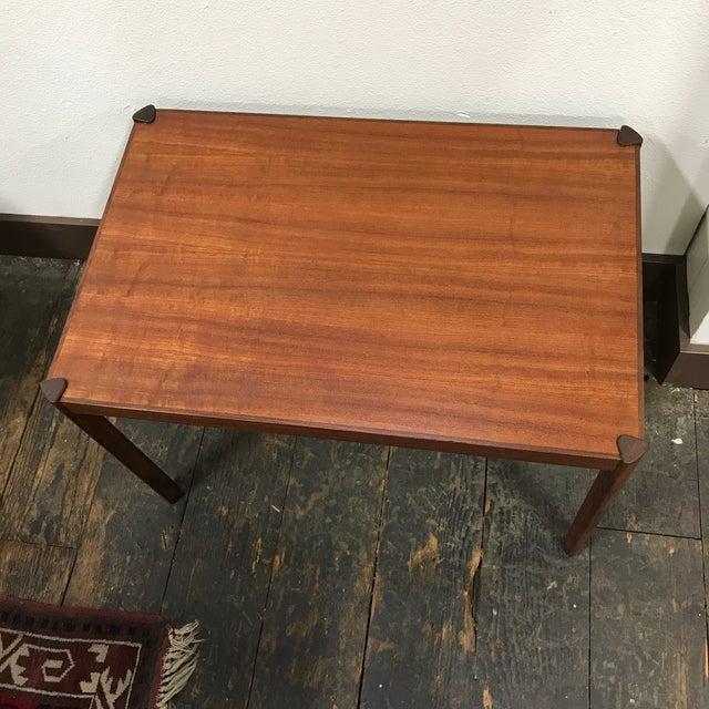 Hans Olsen Hans Olsen Danish Modern Teak Side Table For Sale - Image 4 of 10