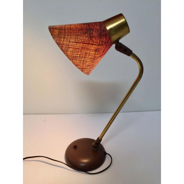 Brown Gerald Thurston Desk Table Lamp for Lightolier, 1950s For Sale - Image 8 of 13