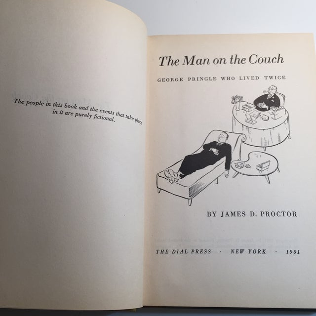 """""""The Man on the Couch"""" 1951 Book For Sale - Image 4 of 8"""
