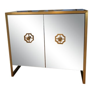 "Mitchell Gold + Bob Williams Mirrored ""Astor"" Bar Cabinet For Sale"