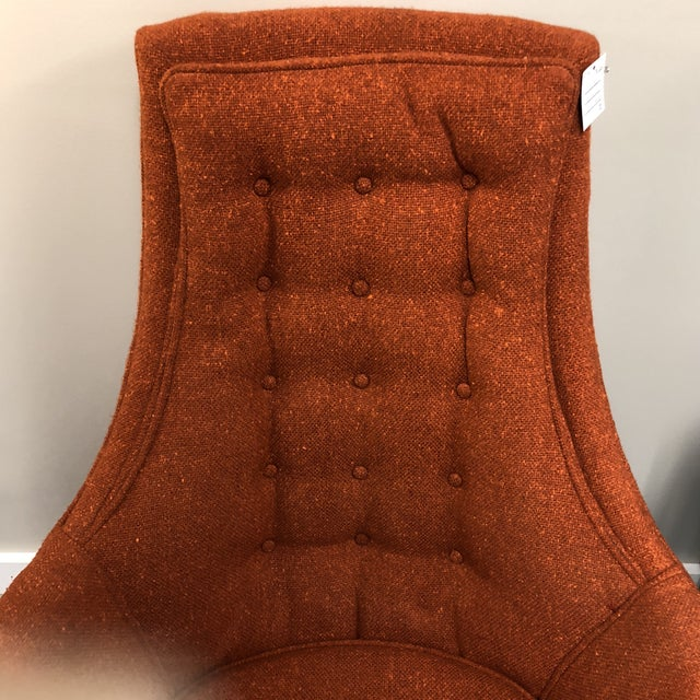 Modern Pair Midcentury Modern Tufted Chairs For Sale - Image 3 of 7