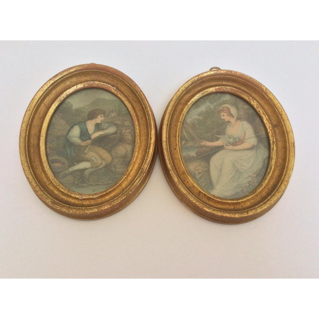 Antique Oval Framed Antique Mezzotints - A Pair For Sale - Image 5 of 9