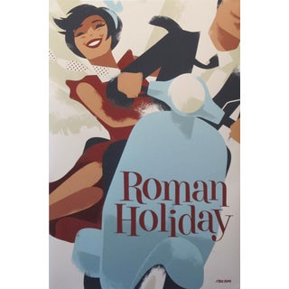2019 Contemporary Danish Mads Berg Poster, Roman Holiday For Sale
