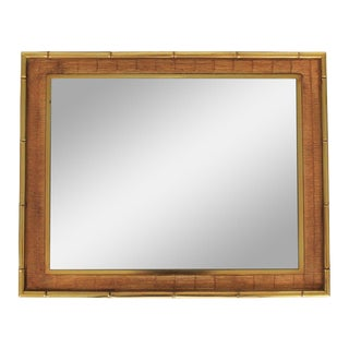 Faux Bamboo Mirror by Syroco
