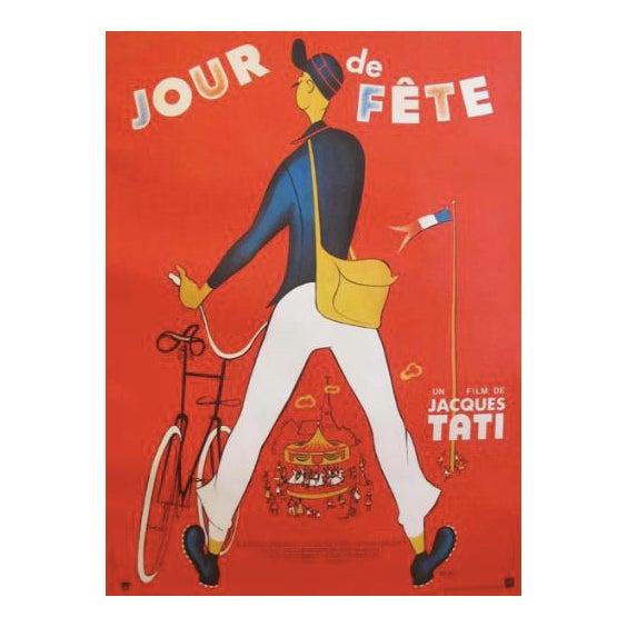 Original 1949 French Jacques Tati Movie Poster, Jour De Fete For Sale