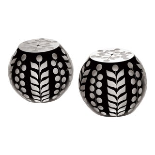 Pariz Salt and Pepper Shakers, Black For Sale