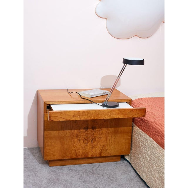 Art Deco Burlwood Nightstands by Milo Baughman for Lane - a Pair For Sale - Image 3 of 5