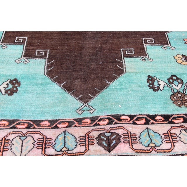 Textile 1980s Vintage Handmade Double-Knotted Turkish Rug - 9' 6'' X 5' 11'' For Sale - Image 7 of 13