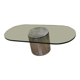 Mid-Century Modern Paul Mayen Glass and Aluminum Coffee Table For Sale
