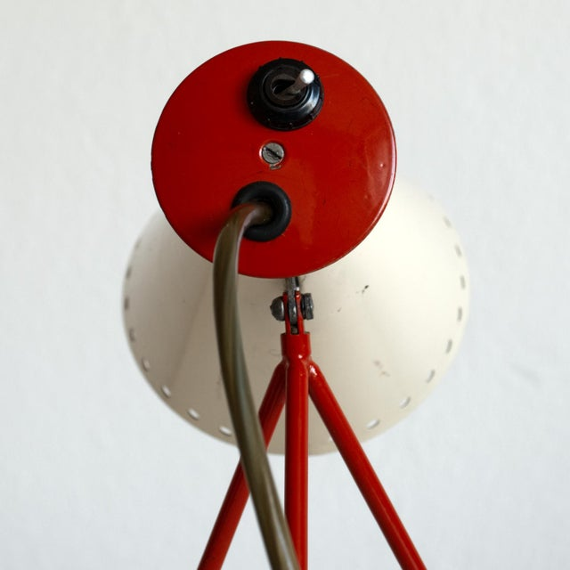 Red 1950s Mid-Century Model 1618 Desk Lamp by Josef Hurka for Napako, Czechoslovakia For Sale - Image 8 of 13