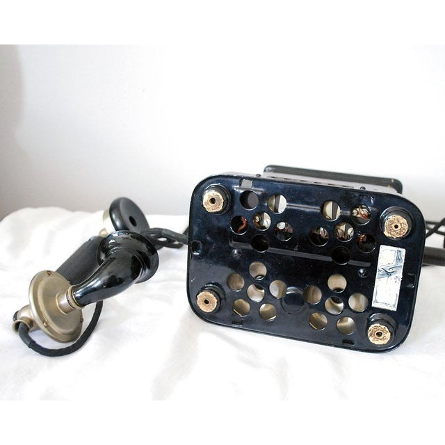 Early 20th Century Antique Danish Hand Crank Telephone For Sale - Image 10 of 11