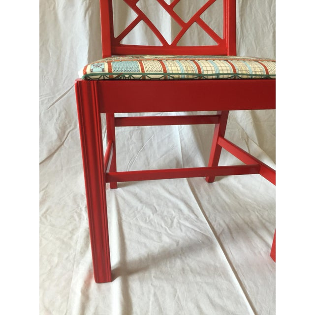Chinoiserie Chippendale Fret Work Occasional Chair For Sale - Image 5 of 7