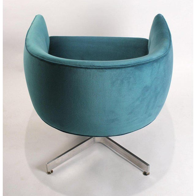 Textile Milo Baughman Tilt and Swivel Lounge Chairs for Thayer Coggin For Sale - Image 7 of 11