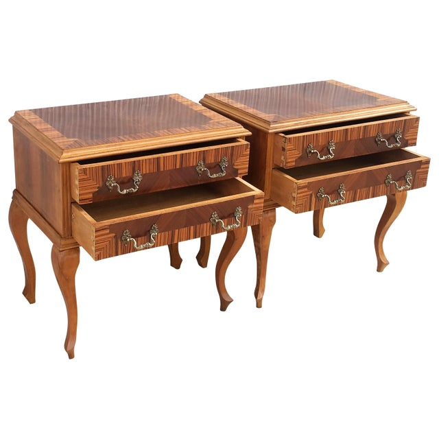 20th Century Pair of Mid-Century Modern Nightstands With Two Drawers, Italy For Sale - Image 10 of 10