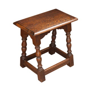 English 20th Century Oak Joint Stool For Sale