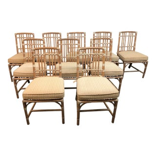 McGuire Vintage Bamboo Dining Chairs - Set of 10 For Sale