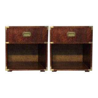 Vintage Henredon Campaign Nightstands - a Pair For Sale