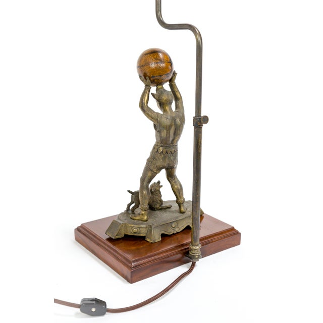 Circus Jester Sculpture With Walnut Ball Lamp For Sale - Image 11 of 13