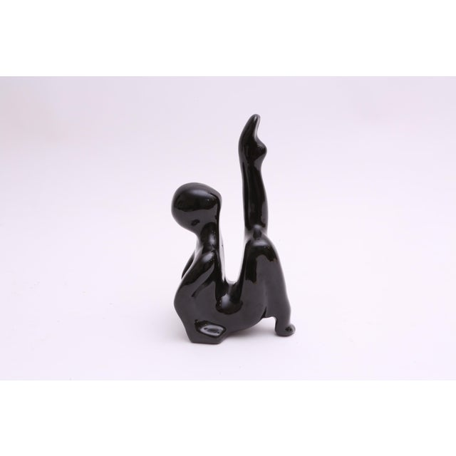 Modernist Black Ceramic Abstract Sculpture - Image 3 of 6