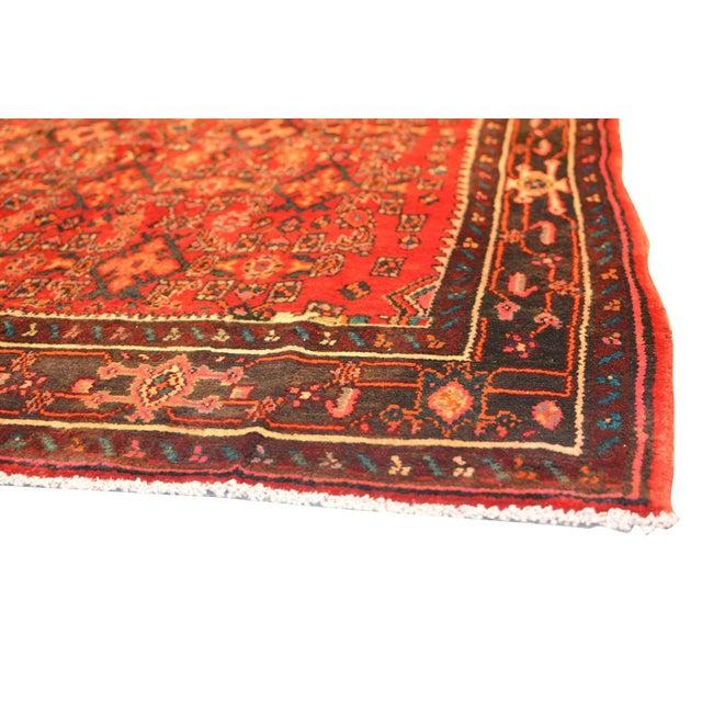 """Vintage Hamadan Wool Area Rug- 5' 5"""" x 8' 5"""" - Image 3 of 3"""