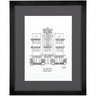 McAlpin Hotel, Miami Beach Framed City Print For Sale