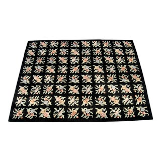 Japanese Hooked Rug - 7′8″ × 9′6″ For Sale