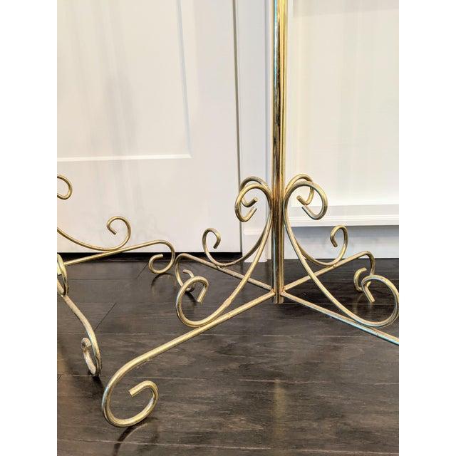 Metal Vintage Late 20th Century Brass Seven-Light Adjustable Floor Candelabras - a Pair For Sale - Image 7 of 8