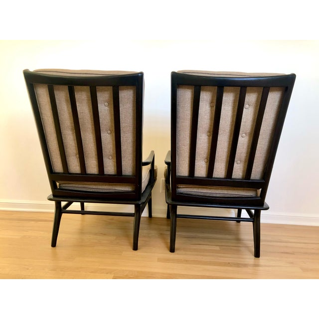 Mid Century Ebonized Chairs - a Pair For Sale - Image 4 of 8