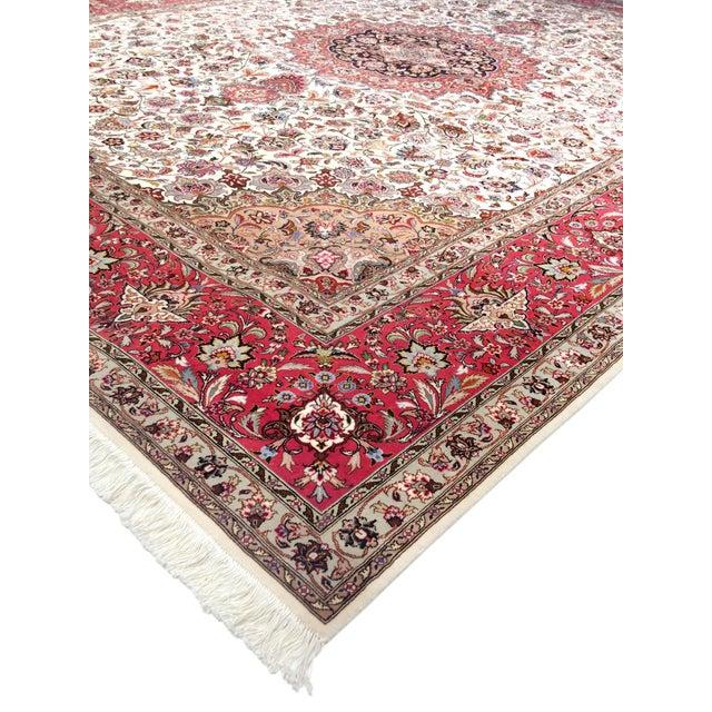 "Islamic Pasargad Persian Tabriz Silk & Wool Rug - 9'11"" X 13' 0"" For Sale - Image 3 of 5"